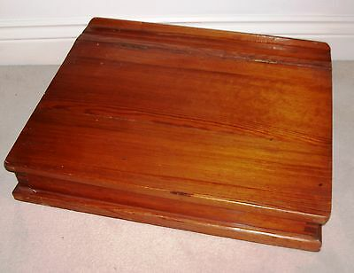 """Vintage wooden writing slope lap desk 20"""" by 15.5 """""""
