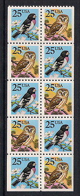 USA US mint stamps - 1988 Birds Booklet Pane, SG2354/2355, MNH