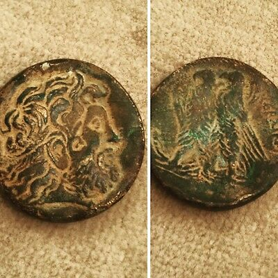 Ptolemaic Metal Coin  Emperor Ptolemy III (246-205 BC) Archaeology