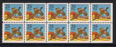 USA US mint stamps - 1988 Birds Pheasant Booklet Pane, SG2346a, MNH