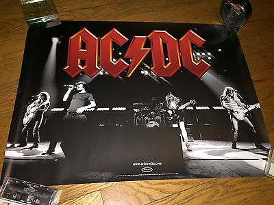 "AC/DC ""Back in Black video shot"" [1980] with classic red logo(2003 promo poster)"