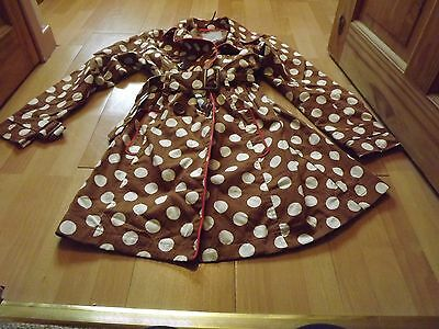 Next girls brown /white spotted jacket 11-12yrs