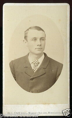 t05 - Canada BOWMANVILLE Ontario 1890s CDV Photo by HC Tait. Young Man