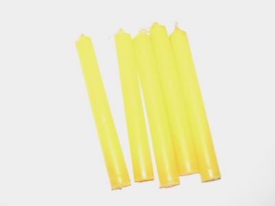 "Yellow 4"" Ritual Chimes Candles 5 pack Wiccan Hoo Doo"