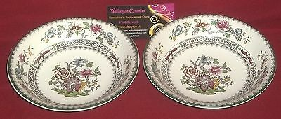 TWO Copeland Spode CHINESE ROSE Cereal Bowls - No.2