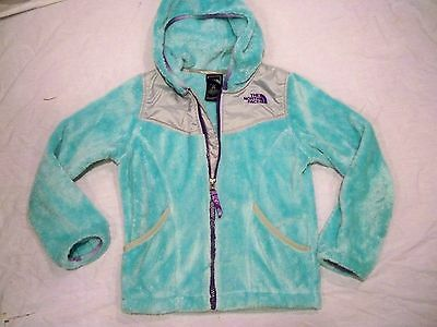 The North Face Oso Soft Fleece Hooded Jacket Girls Youth Kids S 7/8