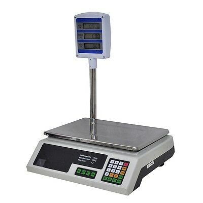 Plattformwaage Industriewaage Digitalwaage Paketwaage Waage LED/LCD max. 30 kg#S
