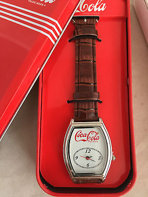 NEW Coca-Cola Coke Wrist Watch Timepiece Wristwatch in Tin Leather Band
