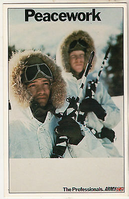 Peacework Army The Professionals British Army Recruitment Poster 1989 Postcard