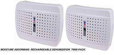 Moisture Absorbing  Rechargeable Dehumidifier  Twin Pack