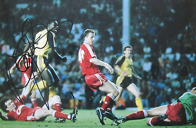 Michael Thomas signed Arsenal 12x8 Photo Liverpool Goal