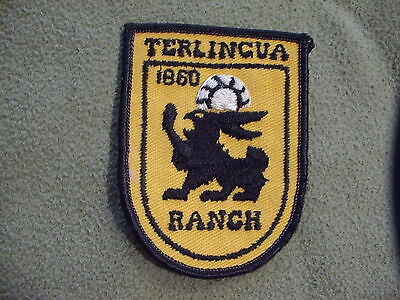 Terlingua Ranch embroidered cloth patch