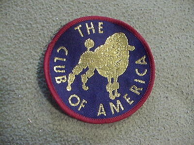 The Poodle Club of America vintage cloth patch