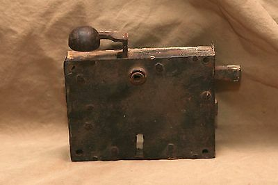 Antique Architectural Door Lock Metal Primitive