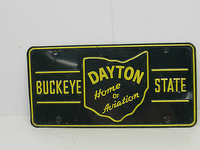 Vintage 1953 Ohio Booster License Plate Dayton, Ohio Home Of Aviation Gas & Oil