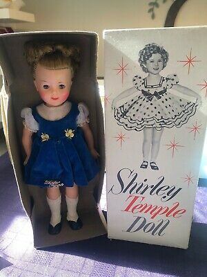 Vintage 50's Toy Doll By Ideal - Shirley Temple Doll In Original Box