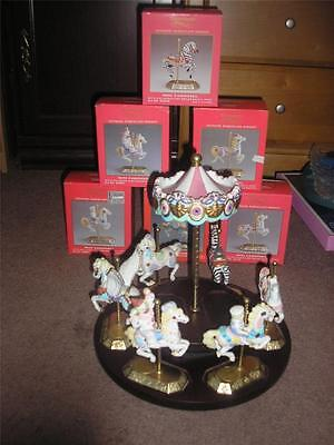 westminster mini carousel set of 6 with musical stand