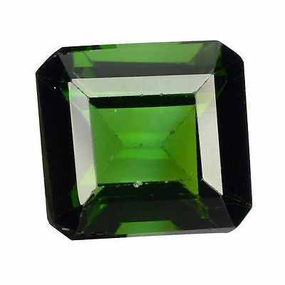 1.890Cts Magnificent Amazing Green Natural Tourmaline Square Loose Gemstones
