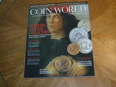 COIN WORLD Magazine~December 2016~Gold Silver Coins Paper Money~Medal Collecting