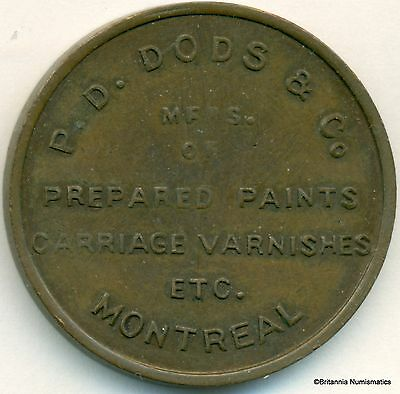 QUEBEC, Montreal P D Dods & Co Pure White Lead  Bowman #3210e Inv 115
