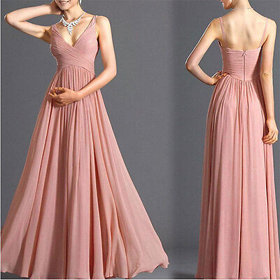 Sexy Long Evening Formal Party Cocktail Gown Prom Wedding Maxi Bridesmaid Dress