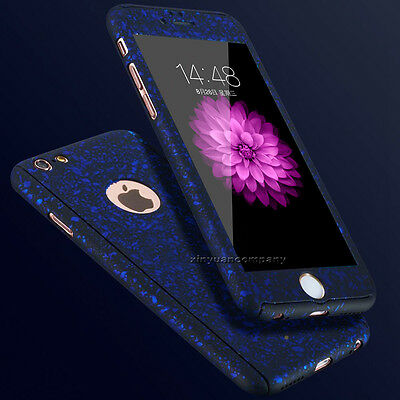 For iPhone 5 6S 7 Plus 360° Full Hybrid Tempered Glass + Acrylic Hard Case Cover