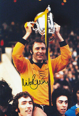 HAND SIGNED 12x8 PHOTO WOLVES 1974 MIKE BAILEY