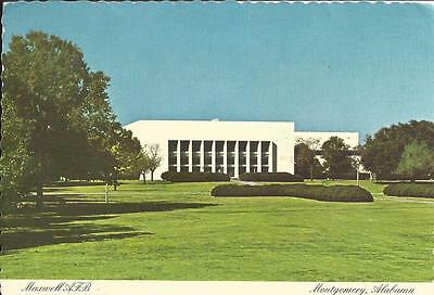 AL - MAXWELL AIR FORCE BASE Older Postcard, Air University Library, Montgomery