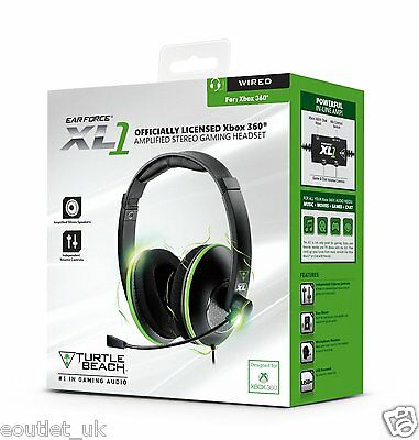 Turtle Beach Ear Force XL1 Gaming Headset For Xbox 360 Black NEW