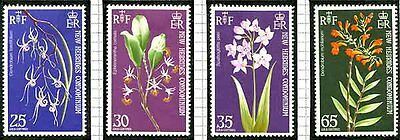 New Hebrides - 1973 Orchids Set Lightly Mounted Mint