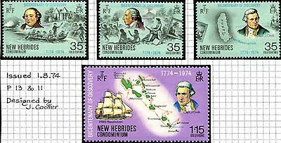 New Hebrides - 1974 Discoveries Set Lightly Mounted Mint