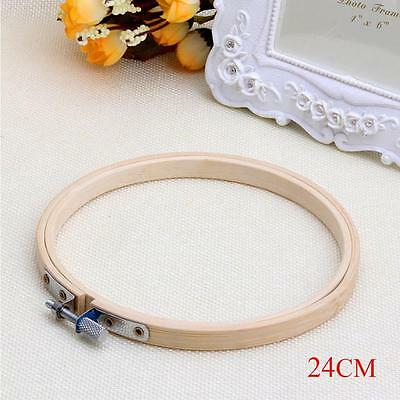 Wooden Cross Stitch Machine Embroidery Hoops Ring Bamboo Sewing Tools 24CM TS