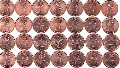 2000  to  2016 P&D (includes ALL  8 2009)  LINCOLN CENT ~ 40 coin CH/GEM BU SET