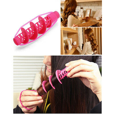 Women Rose Curler Big Wave Curls Rollers With Rubber Hair Styling #lolita-8899