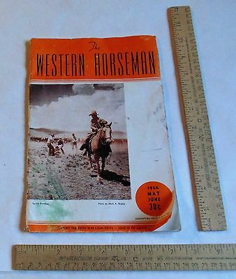 MAY JUNE 1944 - The WESTERN HORSEMAN - Magazine back issue