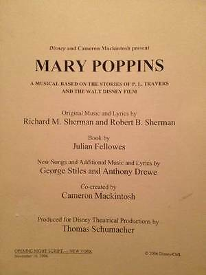 Mary Poppins Disney Broadway Musical/Stage Script