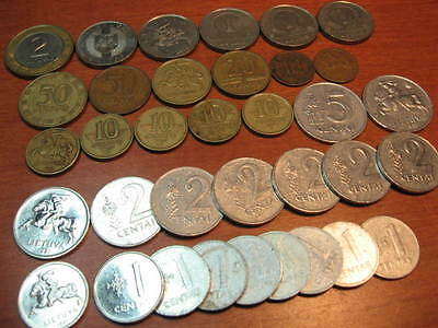 Mixed Lot of Circulated Coins from Lithuania