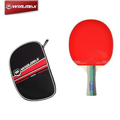 Ping Pong Table Tennis Racket Paddle Bat 3 star Long Handle High Quality Rubber