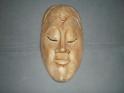 Hand Carved, Wooden Tribal Mask.
