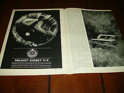 1964 Plymouth Valiant Signet V-8    ***original  Article / Road Test***