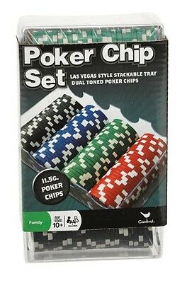 Cardinal Industries 100 Ct. Poker Chips Set 11.5 gram (styles will vary)