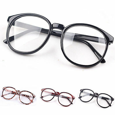 Fashion Clear Round Lens Eyeglasses Frame Retro Men Women Unisex Nerd Glasses