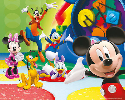 Poster MICKEY MOUSE - Club House Together - Quer (MP1644) ca50x40cm NEU  z414