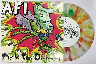 "Afi Fly In The Ointment Rainbow Splatter Vinyl 7"" 45 + Insert & Flyer Unplayed"