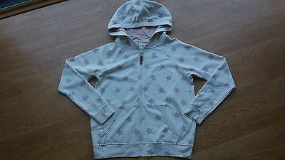M&S Angel Range Star Hoody Neutral size XS = size 8 Leather Zip Tag