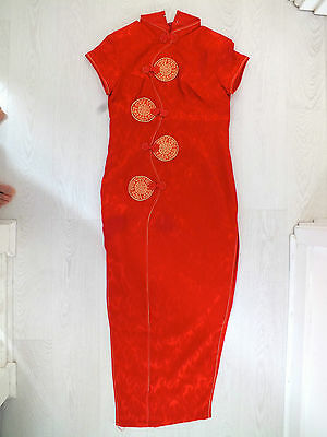 Chinese Red Fire Qipao Wedding New Year Party Dress Uk 10 12 Us 6 8 Eu 36 38 Xl