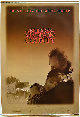 THE BRIDGES OF MADISON COUNTY (1995) Cinema 1-Sheet Film Poster - Clint Eastwood