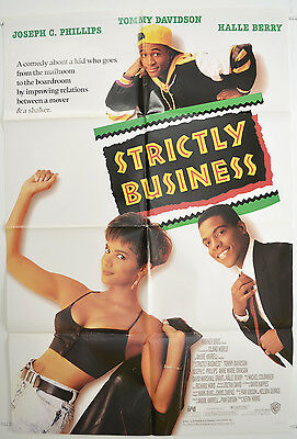 STRICTLY BUSINESS (1991) One Sheet Movie Poster - Halle Berry, Tommy Davidson