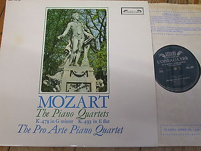 SOL 285 Mozart The Piano Quartets / Pro Arte Piano Quartet GROOVED