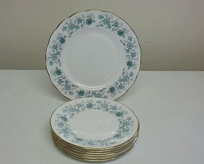 Vintage Colclough Braganza China Cake Plate And Six Tea Plates